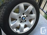 "Genuine BMW 16"" wheels style #45 with center caps"