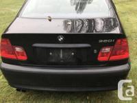 Make BMW Model 320i Year 2004 Colour Black kms 155000