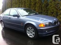Make. BMW. Version. 325i. Year. 2001. Colour. Blue.