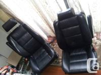 BMW E34 BLACK HEATED ELECTRIC SEATS NO RIPS OR TEARS