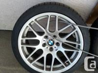 For Sale A set of four staggered wheels from a 2005 BMW