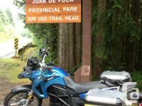 2008 BMW 650GS twin, low KM, factory lower seat height.