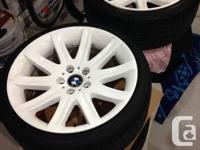 Selling Style 95 wheels(stock 745li).   Tires:  Fronts