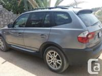 Make BMW Model X3 Year 2005 Colour Gray kms 191000