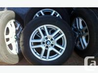 """4 OEM BMW X5 17"""" rims. Ideal for winter as the narrower"""