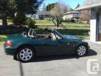 Make BMW Model Z3 Year 1998 Colour Green kms 147411 BMW