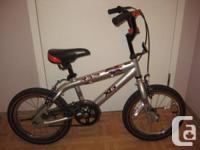 "BMX RAP XG BIKE 16"" TIRE SIZE.  Superb BMX bike, dual"