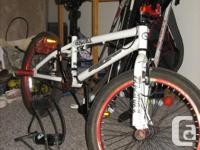 BMX style bike for sale, Bike features trick pegs on