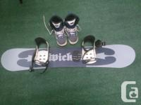 """Worthless"" snowboard 134 centimeters with ""Vision"""