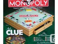 1. Monopoly Book Case - $10    2. Monopoly and Clue +6