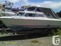 1974 19 foot Glasply Cutty cabin 140 hp inboard