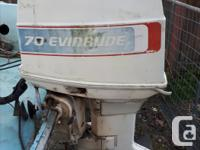 17 foot Glascraft (1979 ) and 70 HP Evinrude
