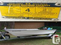 FOR SALE. 1- 14 foot boat (fiberglass) with 2 Wooden