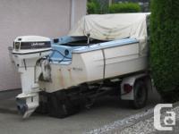 Fiberglas boat 15.6 feet with 2000 Johnson 40 Hp motor