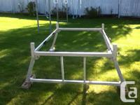 Aluminum constructed boat rack, does not fit around a