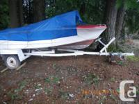 boat trailer, carrys 16 - 20 ft boat, in good condition
