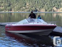 18 ft Wellcraft bow rider, and trailer. 4.3 V6