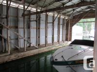 Large boathouse for sale, outside dimensions are,