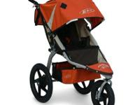 "Selling our Bob stroller in orange with 16"" wheels. It"
