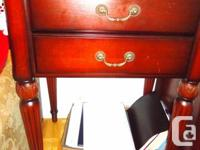 Selling Cherry Wood Corner Table / Can serve as Bedside
