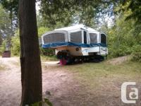 10 foot tent trailer for sale. 2 Queen sized beds Slide