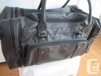 Great Looking Black Bonded Leather Gym, Duffel, or