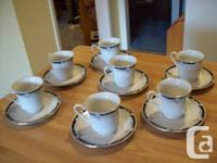 **** Antique Tea Cups ******* And Tea Pot Set And