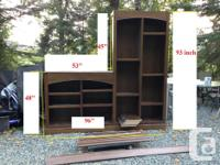 Bookcase/Wall unit - Solid, Beautiful, Well build &