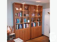 Beautiful bookcases(2), desks(2) and side storage unit