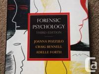 Forensic Psychology Pozzulo, Third Edition $70.