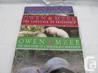 Owen and Mzee, two books and Looking for Miza (mountain