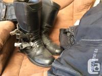 Size 9 First Gear boots - XL pants Joe Rocket - gloves