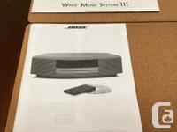 "Bose home audio system. From manufacturer: ""Lifelike"