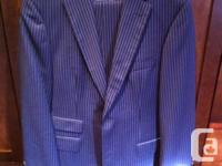 Hugo Manager Men's Blue Match Dark blue with light blue