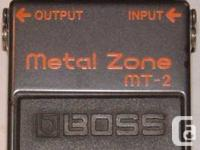 Boss MT-2 Metal Zone Pedal. Boss's most popular