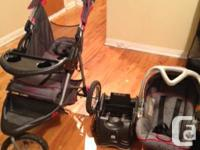 Jogging STROLLER, BASE AND SAFETY SEAT get it today for