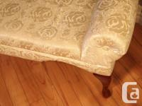 Boudoir Style Chaise bench in a rich ivory cream colour