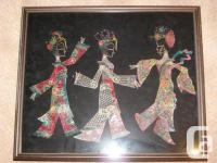 These are dancing women. They are displayed in a shadow