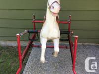 Vintage bouncy horse for kids to ride. Best suited I�d