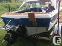 1985 16ft Rinker Bow Rider and trailer for sale.120