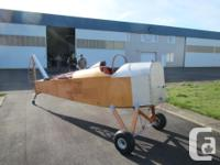 The project is a single seat, all wood aircraft in