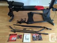 As new, Bowflex Elite. Has extra leg attachment and an