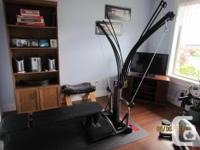 Bowflex power pro with the mat and accessories, comes