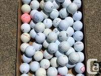 Clean golf balls, includes Top-Flite, Titleist, Nike,
