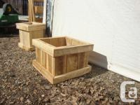 Beautiful hand crafted box planters for sale. Ideal for