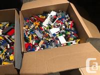 2 boxes, a small tub and 2 bins worth of lego. Theres