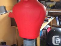 Figure stands 5 feet tall including stabilizing