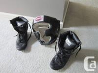 Boxing Headgear: Amber. Great condition. Size: Medium.