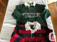 Brand Names: Chap, GAP, Tommy Hilfilger 2 Rugby Shirts, used for sale  British Columbia