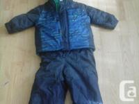 Size 3 navy snow suit: $15 Size 3 navy, orange, white
